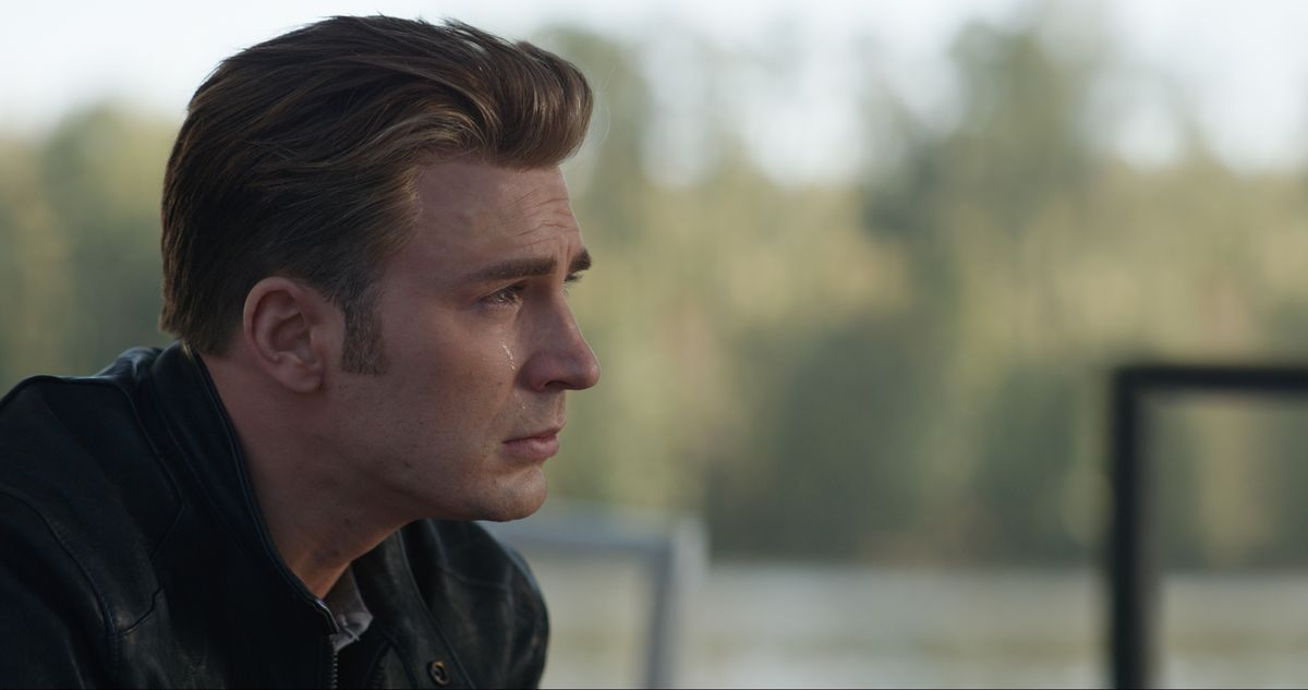 Chris Evans as Captain America in Avengers: Endgame.