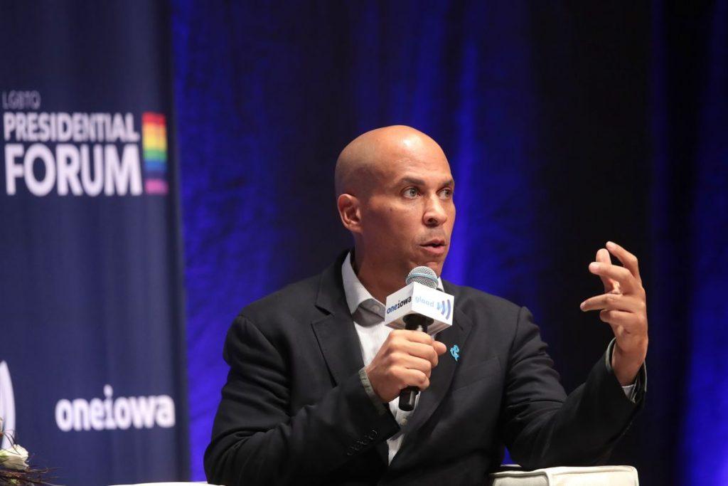 Corey Booker LGBTQ presidential forum