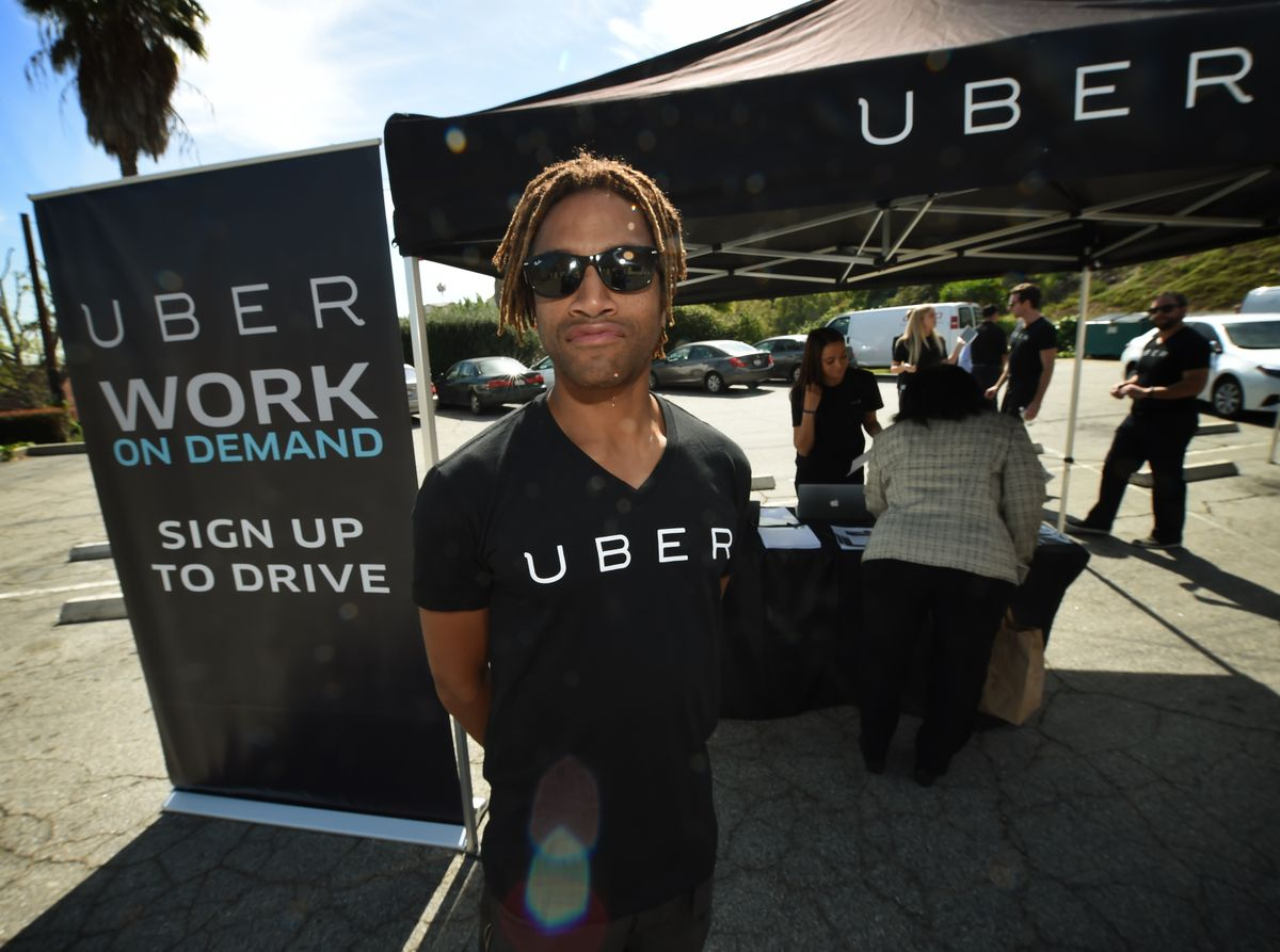 Uber driver sign-up event in South Los Angeles
