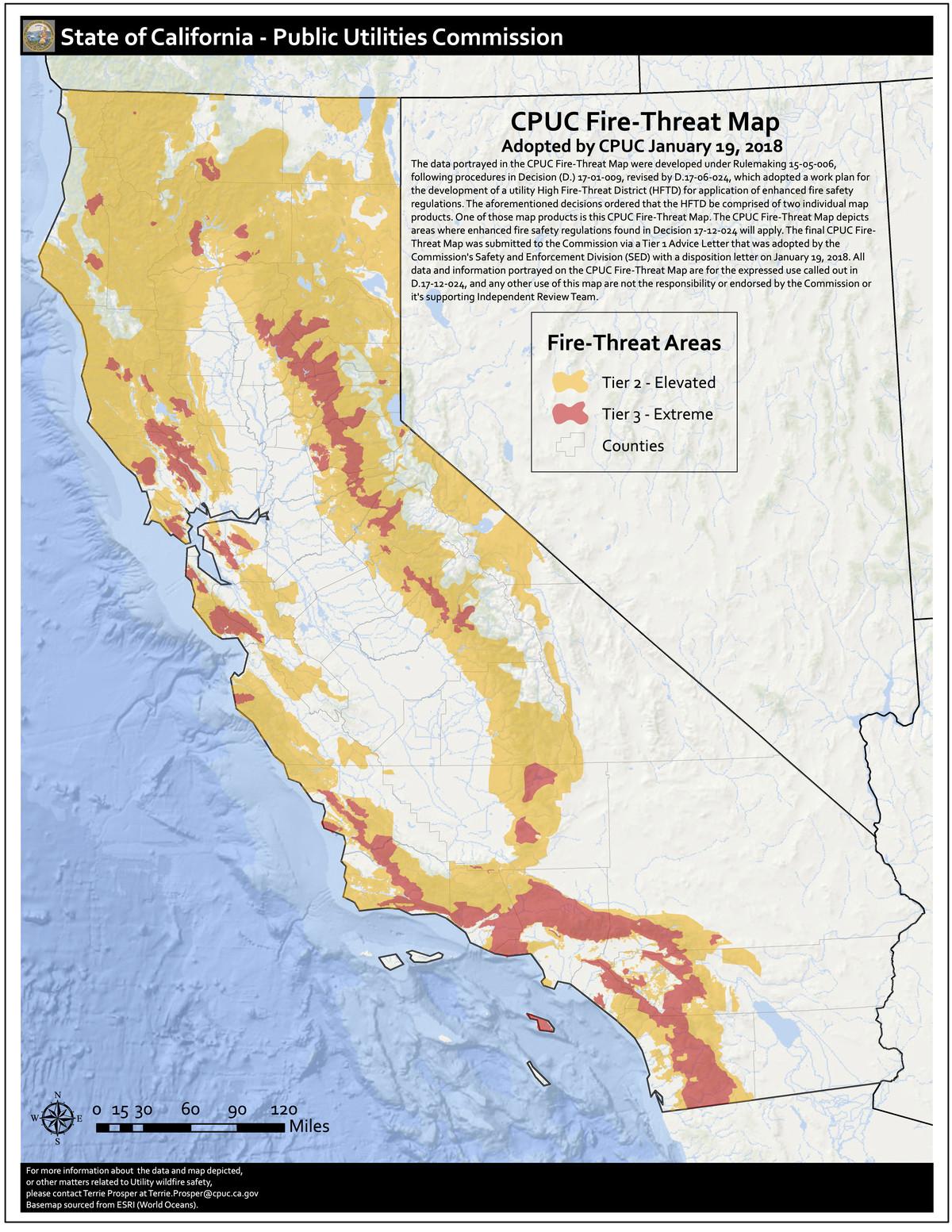 CA fire risk