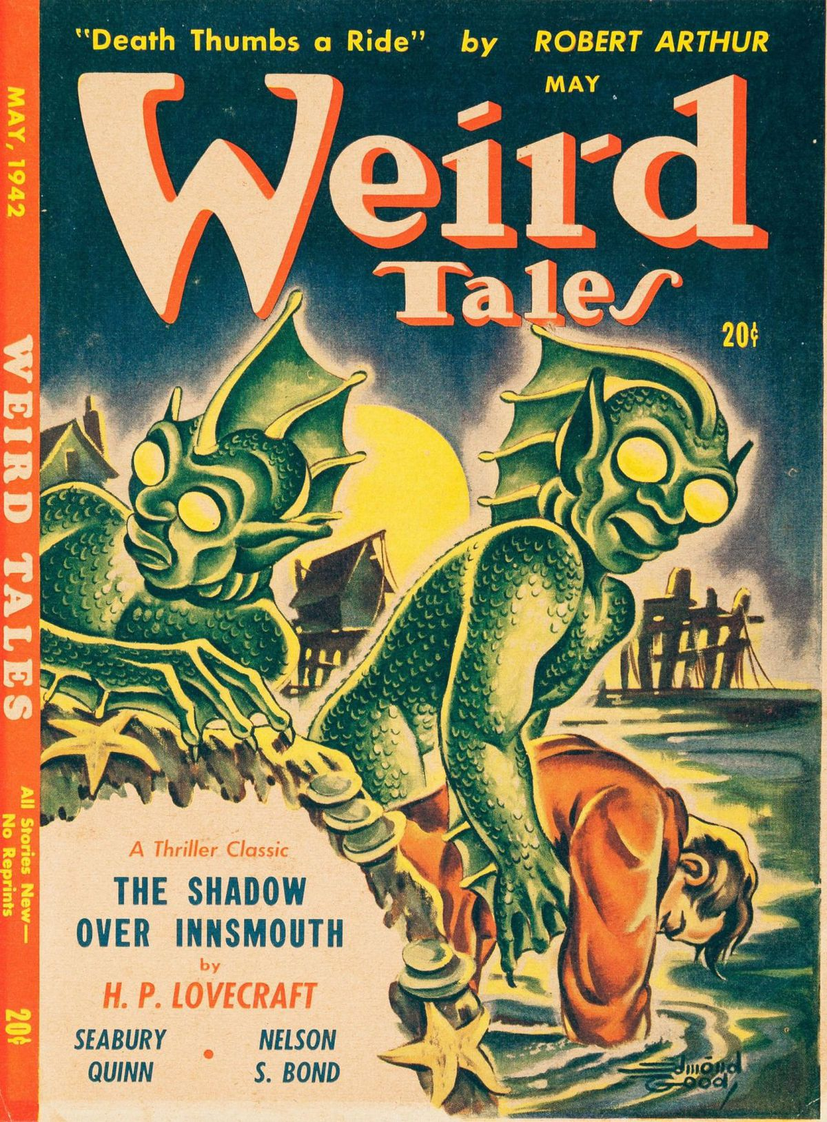 """The cover of the magazine """"Weird Tales"""" from 1942."""