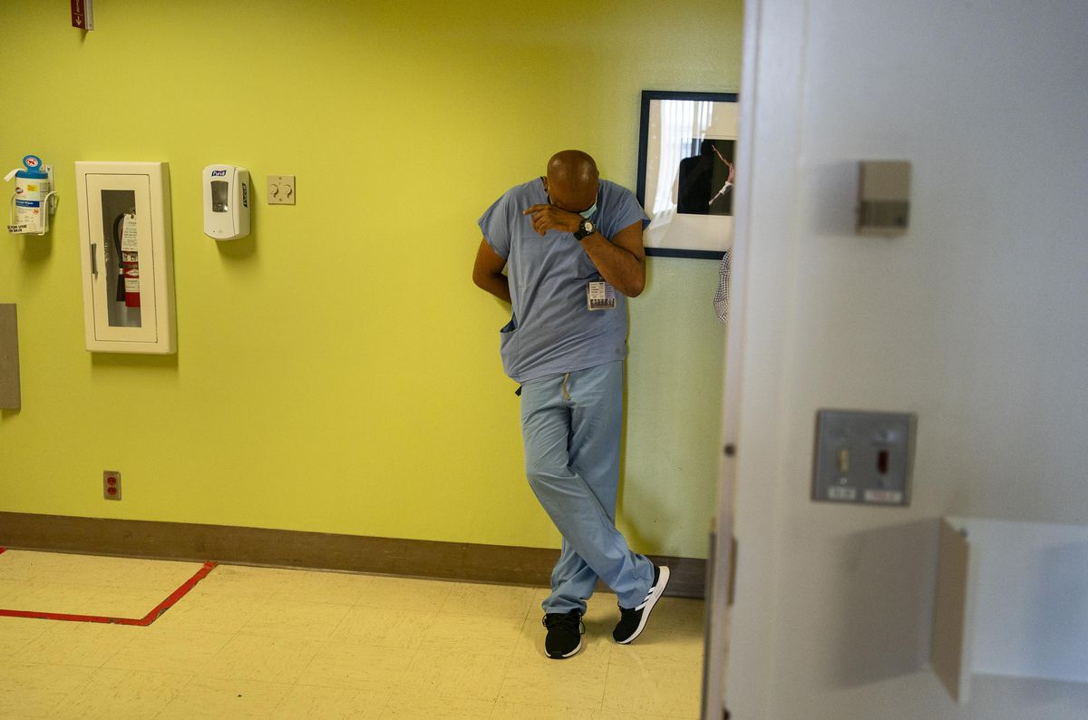 Seattle Hospital Treating Covid Patients Is Cleaned During Shift Change
