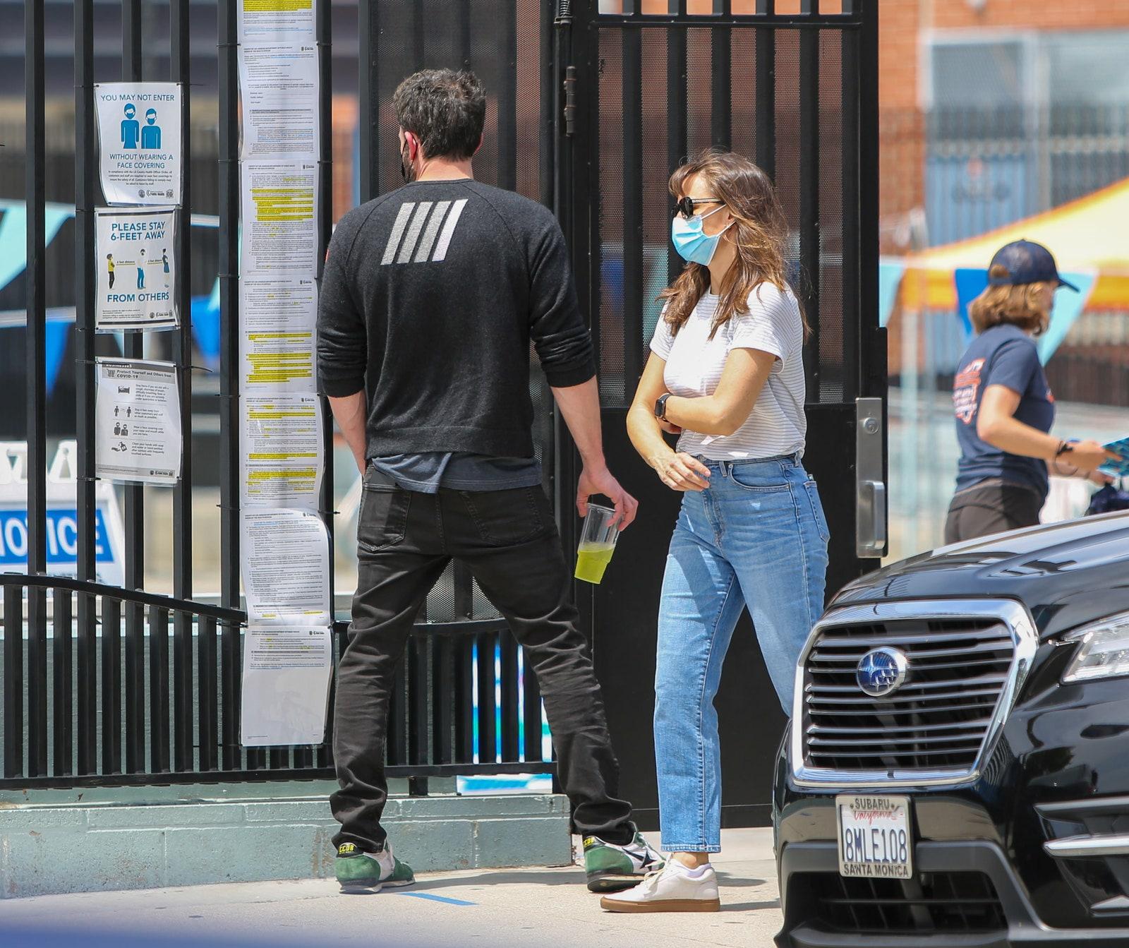 Ben Affleck and Jennifer Garner in Los Angeles May 01 2021.