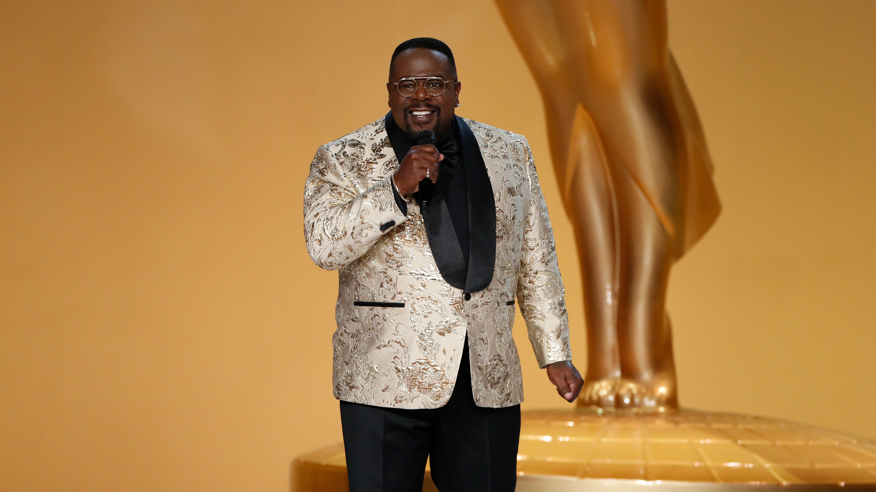 Cedric the Entertainer hosts the 73rd Emmy Awards on Sunday, September 19, in Los Angeles.